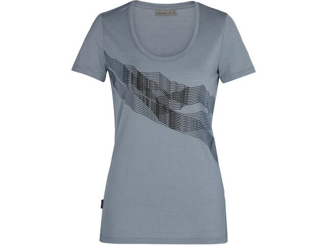 Icebreaker Tech Lite SS Scoop Shirt St Anton Women, gravel